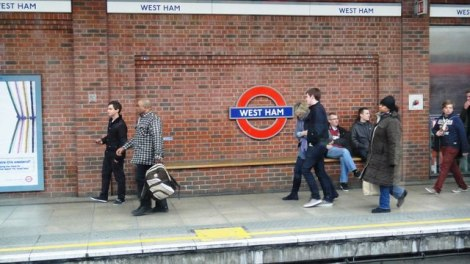 West Ham Tube Station, 31 March 2012