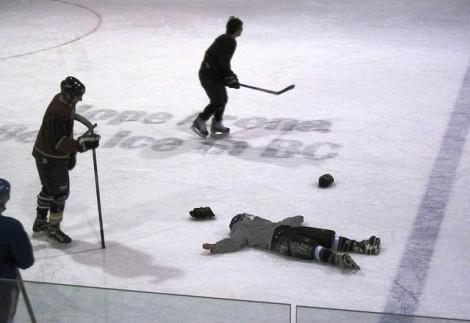 Hockey FIght Fail!