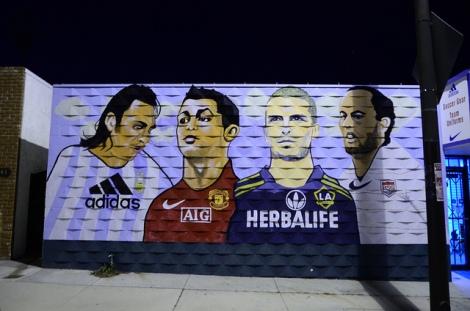 Soccer Mural, Mike Senese