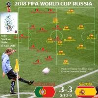 Portugal 3 - Spain 3