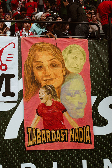 "Tifo reading ""Zabadast Nadia"""